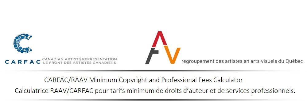 minimum copyright and professional fees calculator
